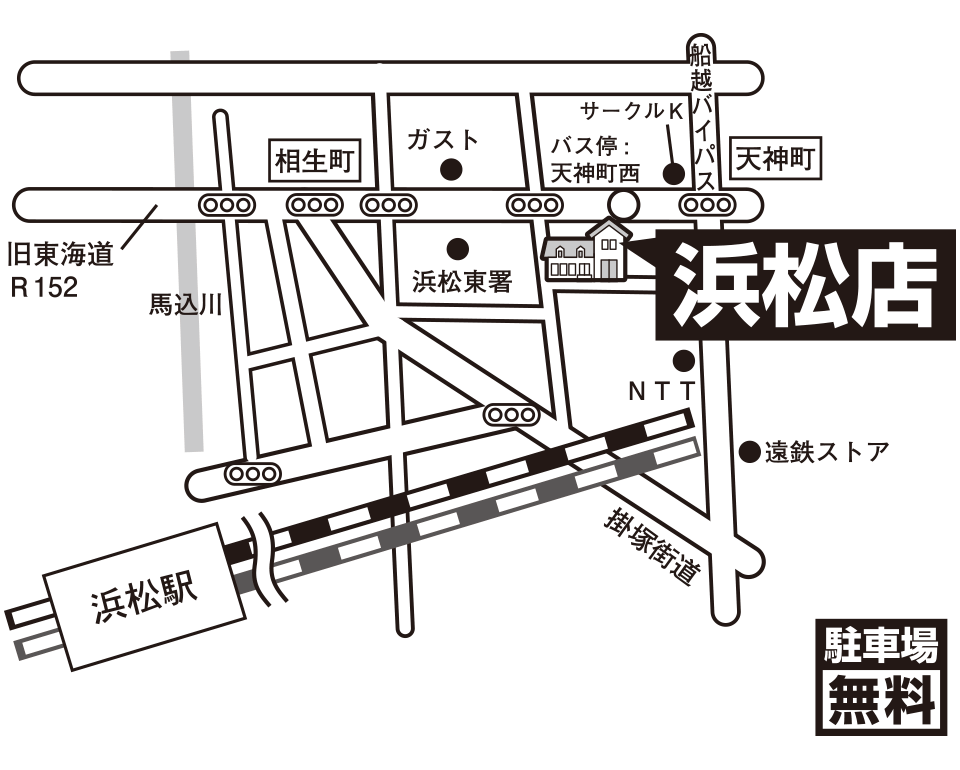 オンディーヌ浜松店 マップ