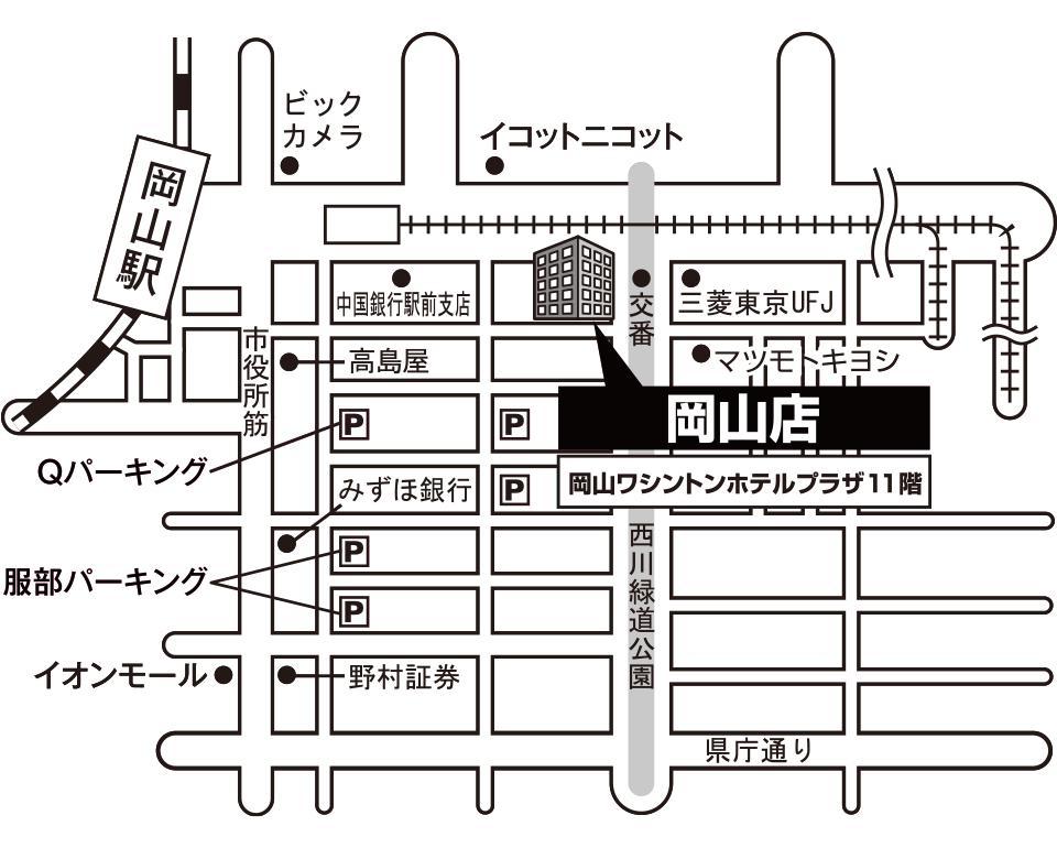 オンディーヌ岡山店 マップ