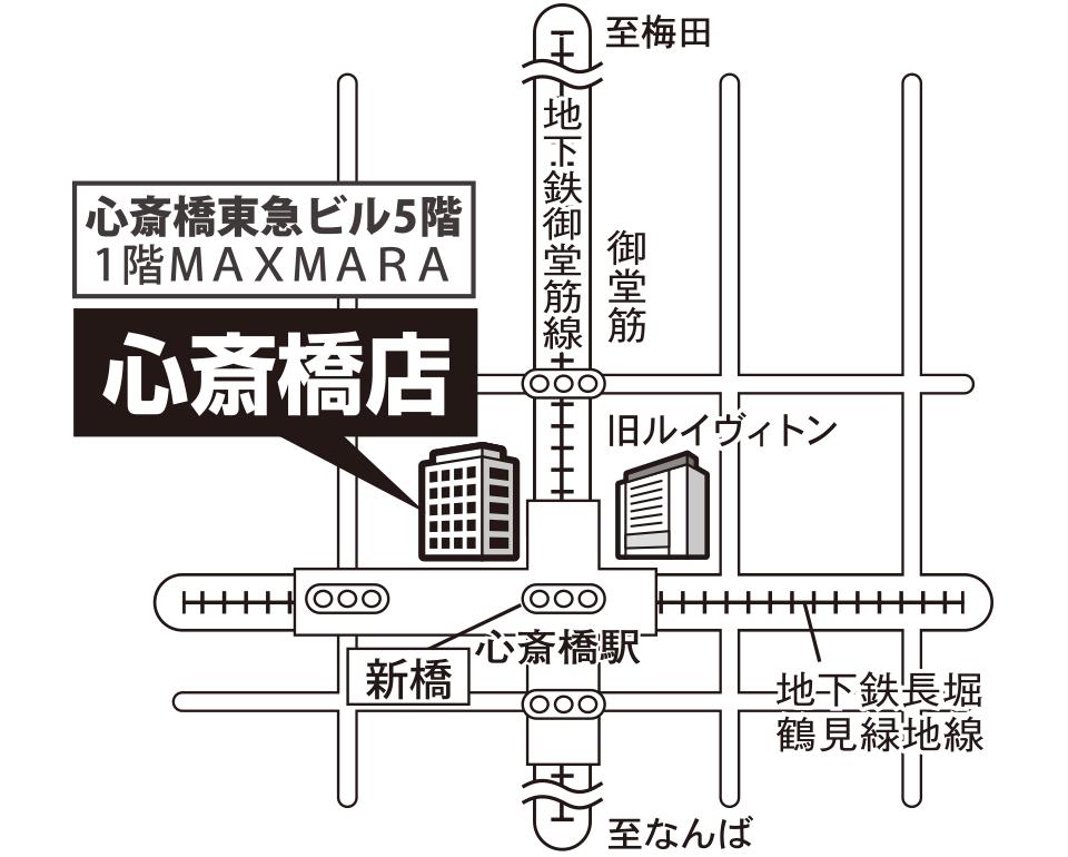 オンディーヌ心斎橋店 マップ