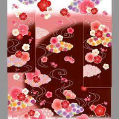 【オリジナル振袖】ちぃぽぽちゃん着用のピンク×茶のイマドキ振袖♪