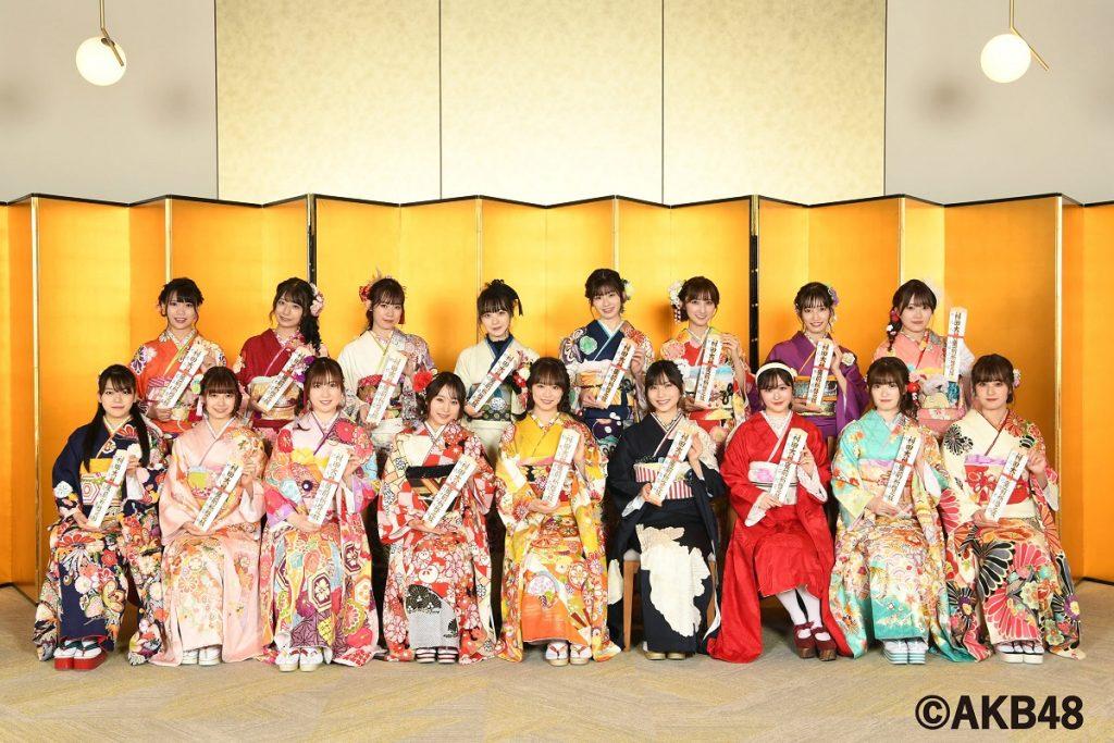【衣装提供】AKB48成人式でオンディーヌの振袖をご着用いただきました!